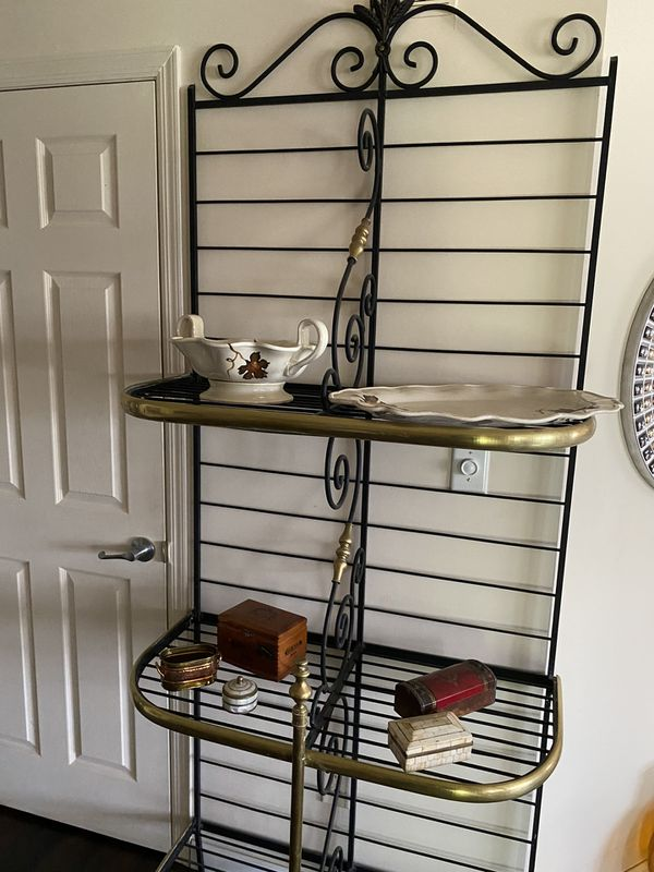 Bakers rack wrought iron