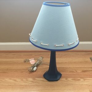 Blue Nautical style lamp for Sale in Bristow, VA