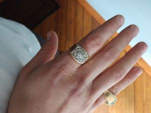14k yellow gold diamond cluster ring for Sale in Portland, OR