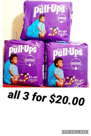 huggies pull up size 3t 4t for Sale in Los Angeles, CA