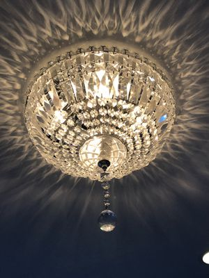 Crystal chrome chandelier for Sale in Brooklyn, NY