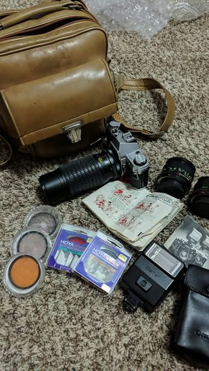 Canon AE-1 Film Camera with Extras for Sale in Arvada, CO