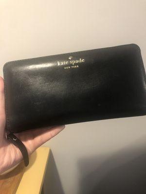 Kate Spade Black Leather Wallet for Sale in Arlington, VA