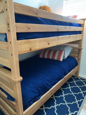Real wood bunk bed twin size for Sale in San Diego, CA