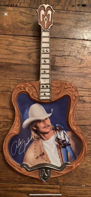 Alan Jackson glass guitar ornament for Sale in Binghamton, NY