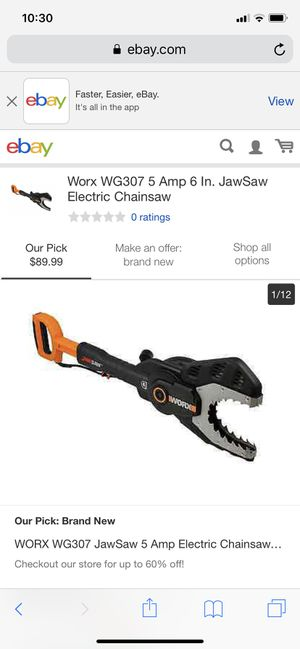 Worx jaw saw for Sale in Columbus, OH