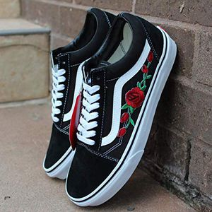 Custom Rose Patch Vans Old Skool Size 8.5 Brand New for Sale in Victorville, CA