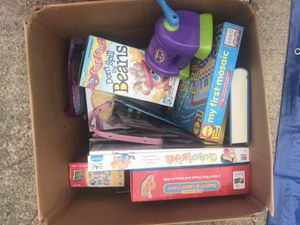 Box of games & puzzles crafts for Sale in Chesapeake, VA