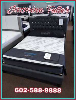 Queen size platform bed frame with Pillow top mattress included for Sale in Peoria, AZ