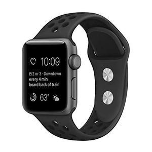 Apple Watch 42m & 44mm Soft Silicone Replacement Black Nike Sport Band Size M/L for Sale in Chicago, IL