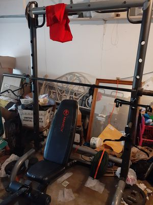 Squat rack with weights for Sale in Pasadena, TX