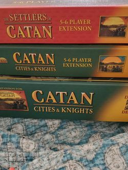 Settlers Of Catan Extension Packs W CITIES & KNIGHTS boardgame Expansion for Sale in Los Angeles,  CA
