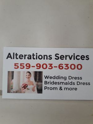 Fix all kinds of dress for Sale in Fresno, CA