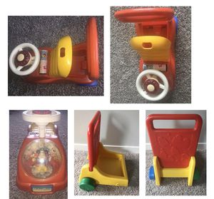 Riding toy Mickey Mouse, Kids pusher for Sale in Puyallup, WA