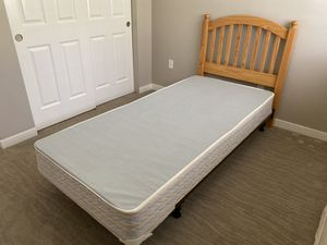 Got 2 of these , twin size headboards plus x long frames and box springs. Price is for both. for Sale in Snohomish, WA