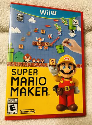 Super Mario Maker For Nintendo Wii U for Sale in Downey, CA