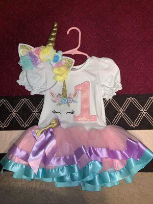 Unicorn 🦄 headband & 1st Birthday Girl Tutu Dress for Sale in Castaic, CA