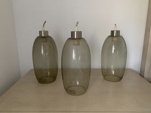 Set of 3 glass hanging lamps for Sale in Tamarac, FL