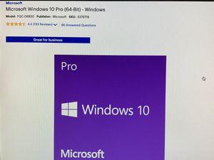 Windows 10 Pro 32/64-bit License Key for Sale in Reading, PA