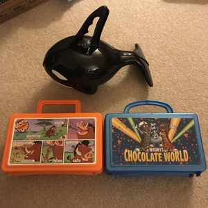 Collectible lunch boxes from hershey chocolate world, disney world, and sea world for Sale in Silver Spring, MD