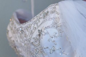 Fairytale wedding dress, with 3-tier veil!! for Sale in Denver, CO