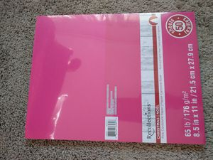 Pink cardstock 65 lb 50 sheets Brand New crafts art supplies for Sale in Ventura, CA