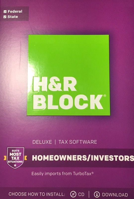 H&R Block Deluxe Tax Year 2017 Homeowner Investors