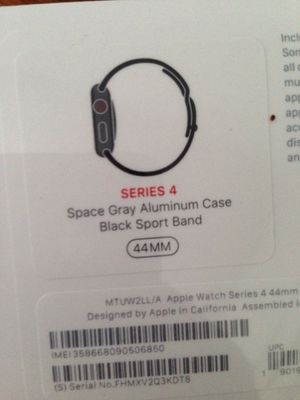 Apple Watch Series 4 GPS LTE 44mm Space Grey/Sports Black Brand New for Sale in Silver Spring, MD