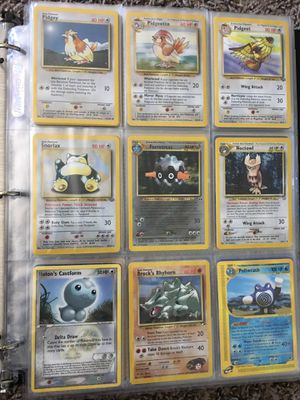 Pokemon Binder: Vintage Cards: Condition: LP-HP for Sale in Fresno, CA