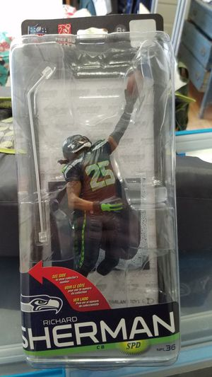 NFL Sports Pick Series Richard Sherman action figure statue. for Sale in Tacoma, WA