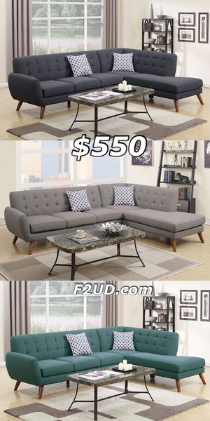 3 Colors Available - Ash Black, Grey, Laguna Blue Polyfiber Sofa Sectional Couch for Sale in Orange, CA