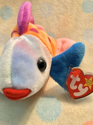 TY Beanie Baby LIPS the Fish (8 inch)MWMT for Sale in Olathe, KS