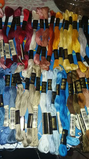40 pc DMC embroidery floss lot rainbow of colors made in France lot 25 for Sale in Long Beach, CA