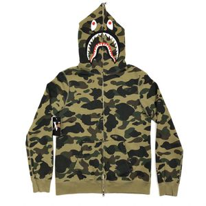 BAPE 1st Camo Shark Full Zip Hoodie Sweater Green Camo Size Women's Small S for Sale in Tracy, CA