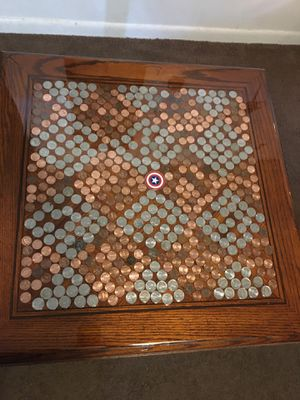 Custom made coin abstract table for Sale in Newport News, VA