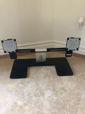 Dual DELL adjustable monitor stand. for Sale in Henderson, NV