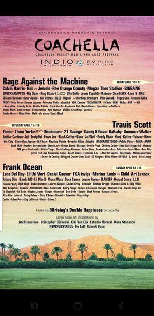 2020 weekend 1 Coachella tickets for Sale in San Bernardino, CA