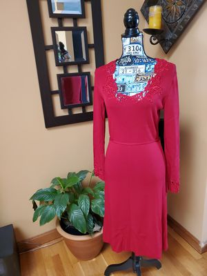 MAX STUDIO RED CROCHET NECKLINE AND BELL SLEEVES!! for Sale in Taunton, MA