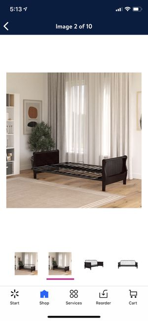 DHP Wood Arm Futon with Espresso Wood Finish, Futon Frame Only for Sale in Las Vegas, NV