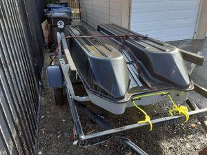 Sun Dolphin Sportsman fishing boat and trailer for Sale in Rancho Cordova, CA