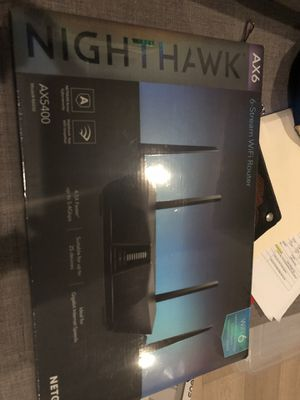 AX6 Netgear Nighthawk 6-Stream WiFi Router Brand New Sealed Box for Sale in Hermosa Beach, CA