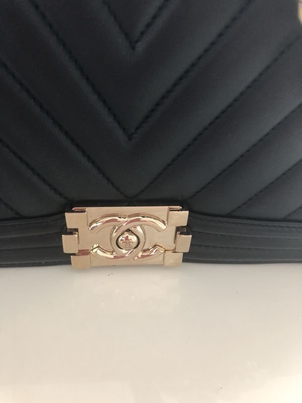 Chanel chevron + dust bag and authenticity card