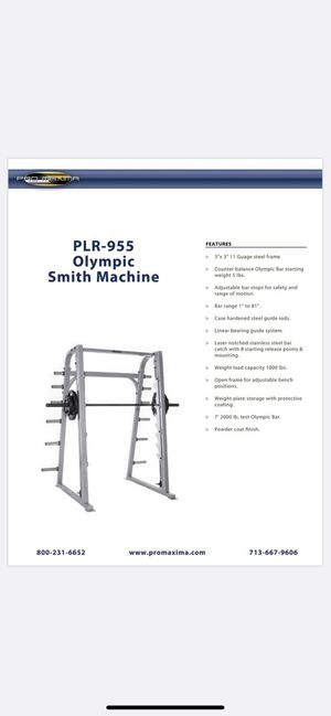 Pro Maxima PLR-9555 Olympic Smith Machine. Commercial for Sale in West Bloomfield Township, MI