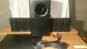 Bose acoustimass 600 home theater subwoofer 6 double satellite speakers nice for Sale in Marietta, GA