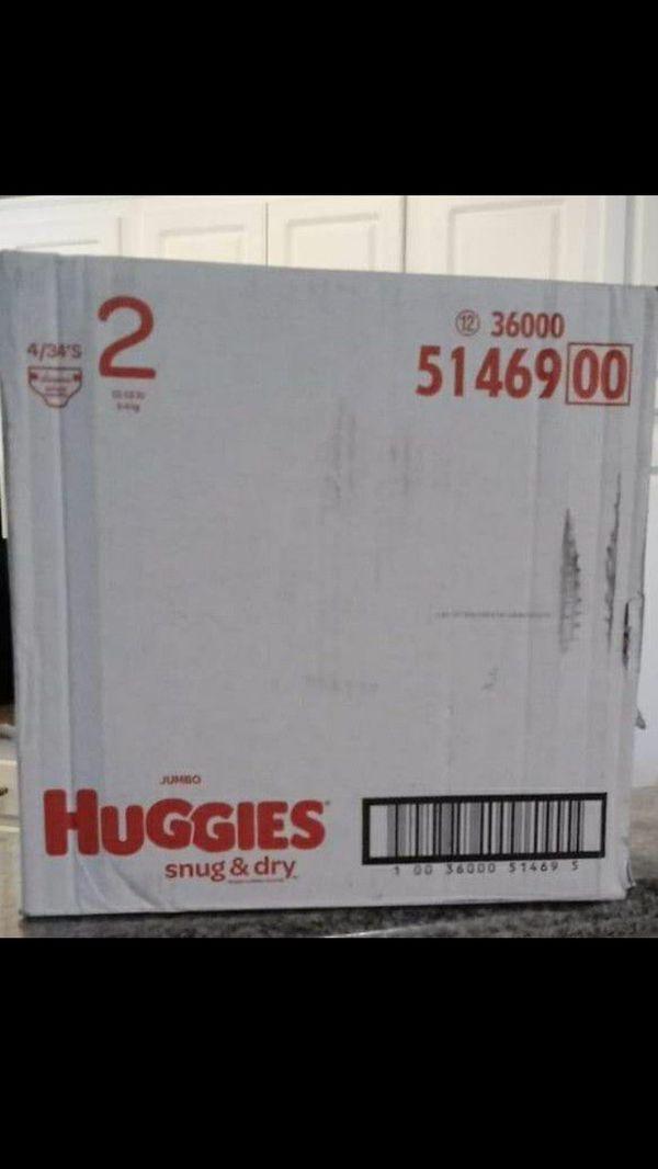 Huggies snug and drysize 2- 136 diapers total