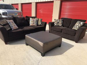 Delivery - brown couch sofa loveseat for Sale in Burleson, TX