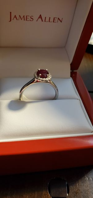 Ruby Wedding Band Set Size 7 for Sale in Baltimore, MD
