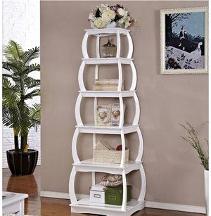 "Mixcept 66"" Multi-Purpose Shelves 5 Tier Bookshelf Bookcases Wooden Storage Display Shelf Standing Shelving Unit Collection Shelf, White for Sale in Los Angeles, CA"