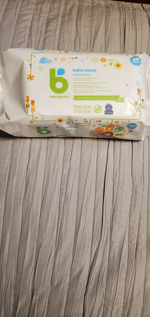 Brand New Babyganics Baby Wipes Fragrance Free $3.50 per pack for Sale in Gardena, CA
