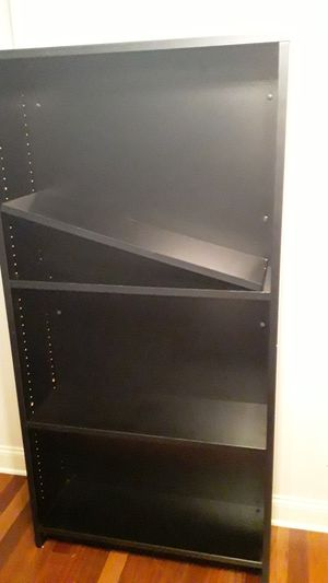 5 1/2 foot tall black bookshelf for Sale in Garner, NC